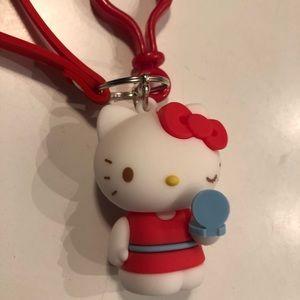 Hello Kitty key chain red